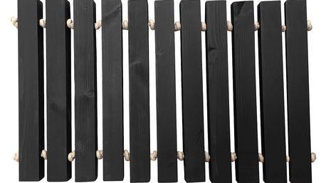 Tmavě šedá ručně vyrobená rohožka Artsy Doormats