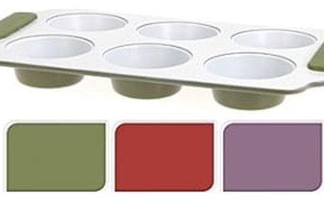 Forma na muffiny s keramickým povrchem se silikonovými rukojeťmi ProGarden KO-192906zele