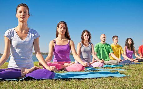 Lekce jógy pod širým nebem během celého léta