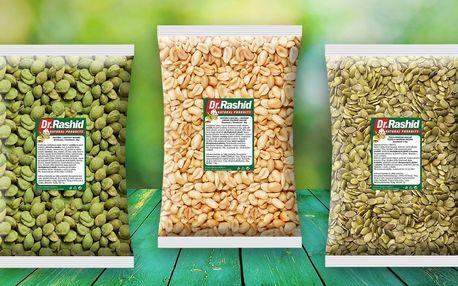 Pražené, solené oříšky a semínka