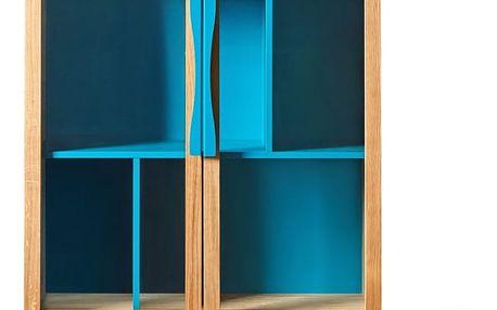 Modrá knihovna/vitrína Woodman Avon - doprava zdarma!