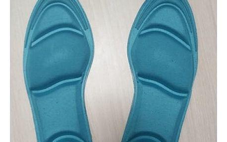 Ortopedické vložky do bot s gelovými polštářky - modrá - dodání do 2 dnů