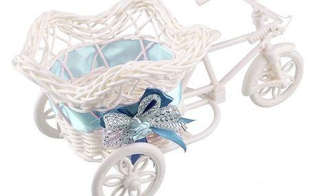 Dekorativní tříkolka v modré barvě - dodání do 2 dnů