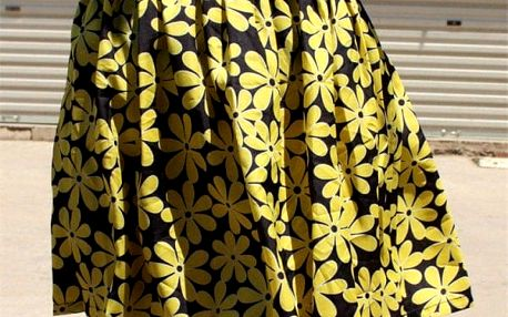 Krátká letní sukně s elastickým pasem - 11 motivů