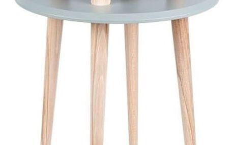 Tmavě šedý konferenční stolek Ragaba UFO,⌀45 cm - doprava zdarma!