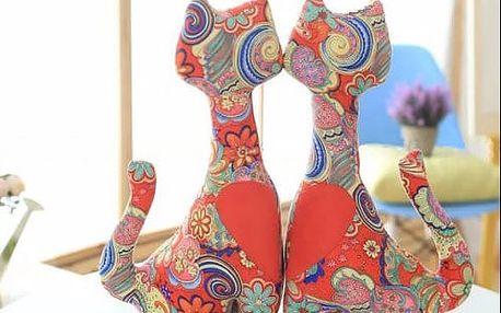Dekorativní polštáře sošky GodoDo dvě kočky