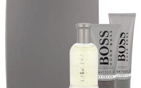 HUGO BOSS Boss Bottled dárková kazeta pro muže toaletní voda 100 ml + balzám po holení 75 ml + sprchový gel 50 ml