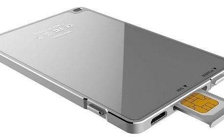 Dual SIM rozšiřovač Devia pro iPhone - stříbrný - SIMADAIP-DEV