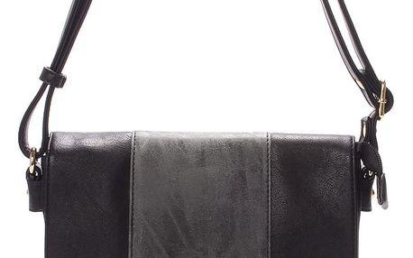 Dámská luxusní crossbody kabelka černá - Hexagona Francesca černá