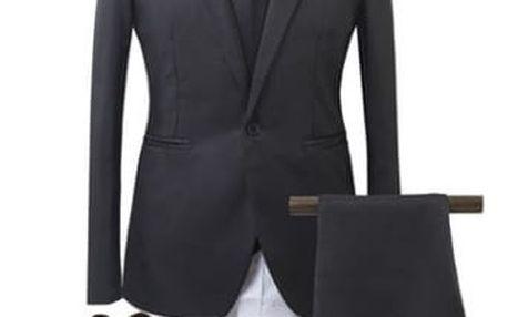 Pánský společenský oblek - černá, vel. 4