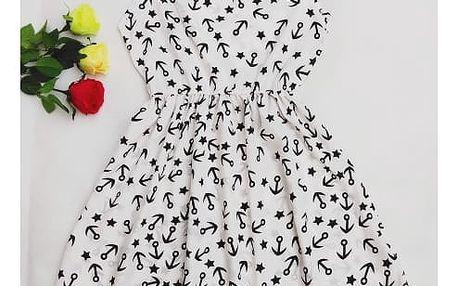Rozmanité šaty s krásnými letními vzory a elastickým pasem - varianta 14, vel. 2 - dodání do 2 dnů