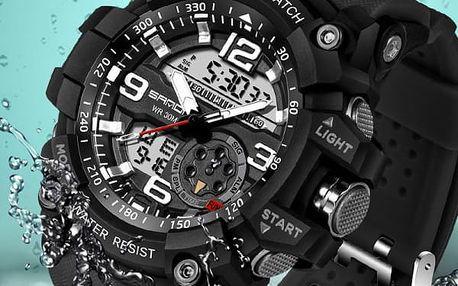 Pánské hodinky na sport s LED osvětlením