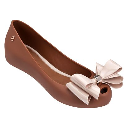 Hnědé baleríny Melissa Ultragirl Sweet XII Brown/Light Pink