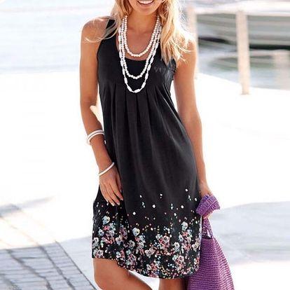 Dámské šaty na léto - prodyšné - černá, vel. 4
