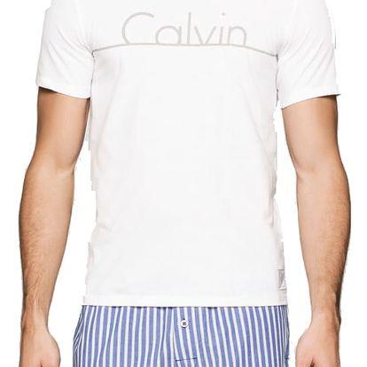 Calvin Klein bílé pánské tričko S/S Crew Neck