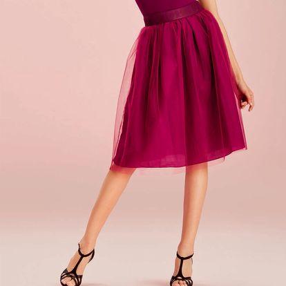 Deha fialová tylová sukně