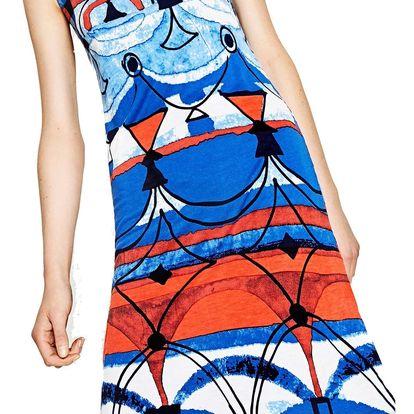 Desigual modré šaty Maribel