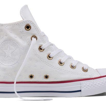 Converse bílé kotníkové tenisky CTAS Hi White/Casino Red/Insignia Blue