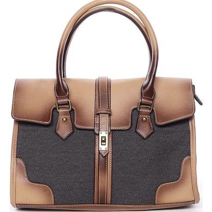 Trendy dámská kabelka do ruky černá - MARIA C Delmare černá