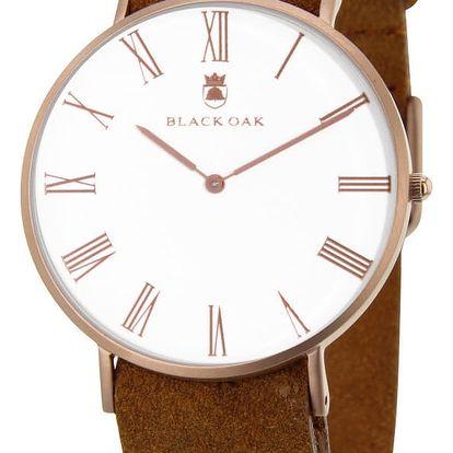 Hnědé pánské hodinky Black Oak Elegant - doprava zdarma!