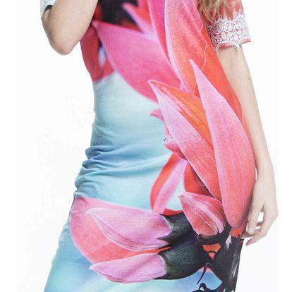 Culito from Spain barevné šaty Flores Rosa