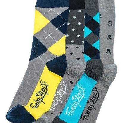 Sada 4 párů ponožek Funky Steps Goofy, unisex velikost
