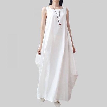 Dámské šaty v rozevlátém stylu - bílá, velikost 3