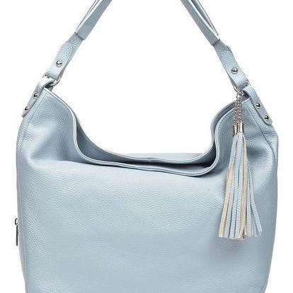 Světle modrá kožená kabelka Renata Corsi Dona - doprava zdarma!