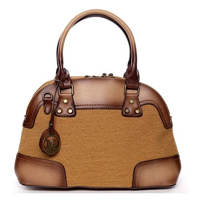 Retro dámská kabelka do ruky žlutá - MARIA C Honore žlutá