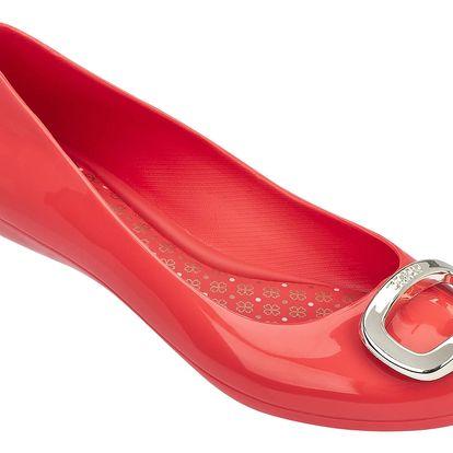 Zaxy červené dámské balerínky Pop Charm Fem Red/Gold