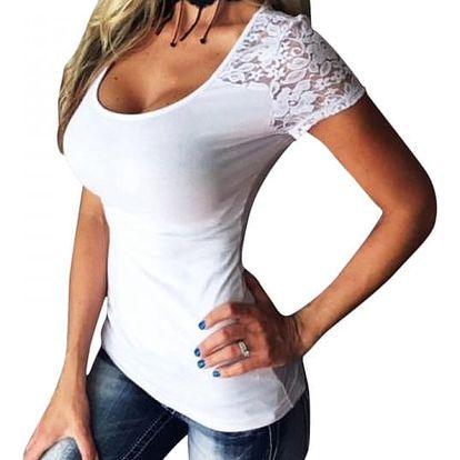 Tričko s krajkovými rukávky a zády - velikost č. 2 - 9