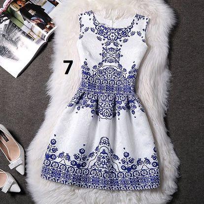 Dámské šaty bez rukávů s motivy přírody - varianta 7, velikost 4