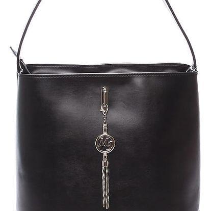 Dámská elegantní kabelka přes rameno matná černá - Delami Celine černá