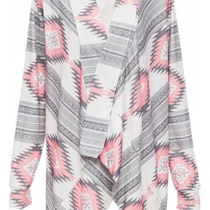 Dámský cardigan ve dvou variantách - Růžová, velikost 5