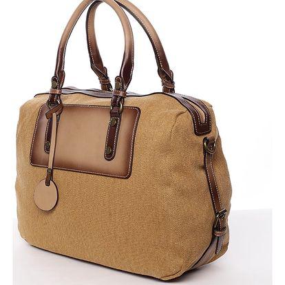 Originální dámská kabelka do ruky žlutá - MARIA C Fayette žlutá