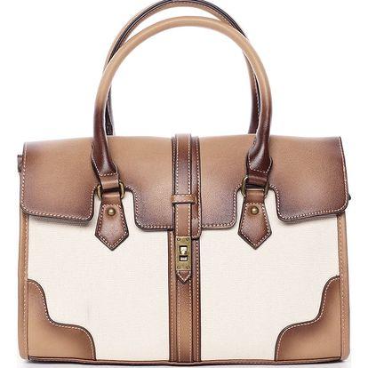 Trendy dámská kabelka do ruky béžová - MARIA C Delmare béžová