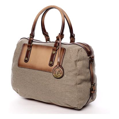 Originální dámská kabelka do ruky taupe - MARIA C Fayette Taupe