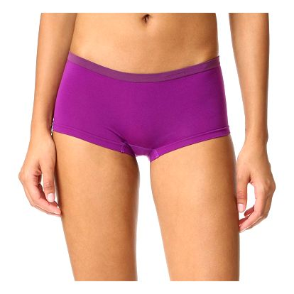 Calvin Klein fialové nohavičkové kalhotky Boyshort