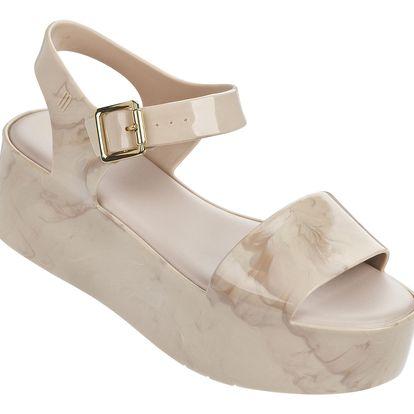 Melissa béžové mramorové sandály na platformě Mar Beige