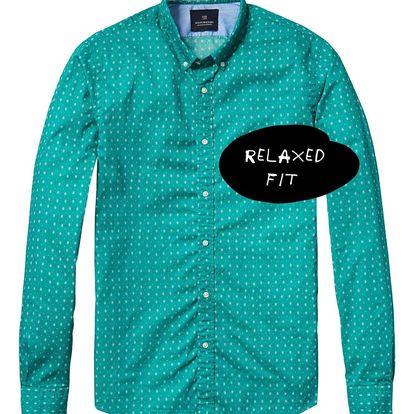 Scotch&Soda zelená pánská košile se vzory