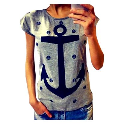Dámské námořnické tričko - šedé, vel. 1 - dodání do 2 dnů