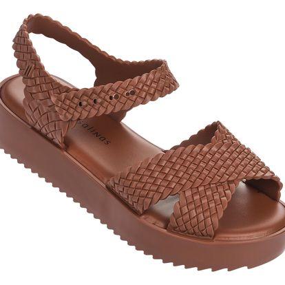 Melissa hnědé sandály Hotness + Salinas Brown
