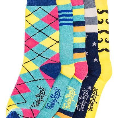 Sada 5 párů ponožek Funky Steps Rodney, unisex velikost