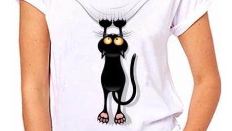 Dámské tričko s motivy kočiček - varianta 255, velikost 7