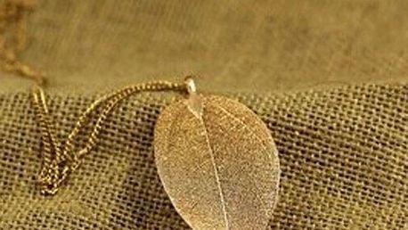 Náhrdelník jemný list
