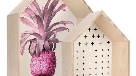 Sada dvou poliček HF Living Pineapple - doprava zdarma!