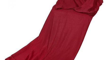 Hřejivá deka s rukávy - Vínová