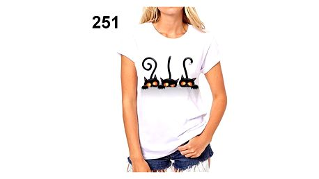 Dámské tričko s motivy kočiček - 251, velikost 1