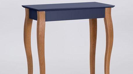 Grafitově šedý konzolový odkládací stolek Ragaba Console,délka65cm - doprava zdarma!