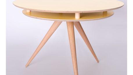 Žlutý jídelní stůl Ragaba Triad - doprava zdarma!